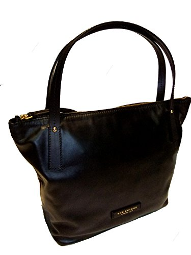 The Bridge Calypso Shopper Tasche Leder 40 cm nero-goldfarben
