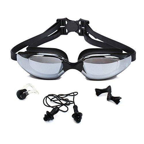"""EXCELENTE: Gafas de natación innovadores Premium """"ProSwim"""" de Sportastisch :: Con 3 puentes nasales intercambiables :: 100% sostén perfecto :: Protección ultravioleta"""