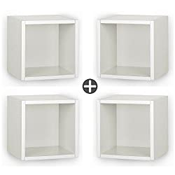 A10 Shop Cubox Storage unit- Open type, 30 cm wide x 30 cm high - Frosty White (Set of 4)