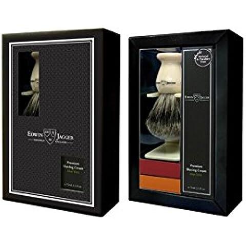 Set de regalo Brocha Afeitar Best Badger Marfil & Crema Afeitar Aloe Vera Edwin Jagger