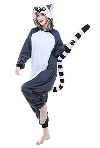 Abyed® kigurumi pigiama anime cosplay halloween costume attrezzatura,scimmia long tail taille adulte xl -pour hauteur 175-183cm