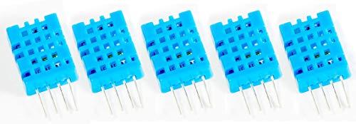 MissBirdler 5 Stück DHT11 digitaler Feuchtigkeit Temperatur Sensor 3-5V 2.5mA f Arduino Raspberry Pi -