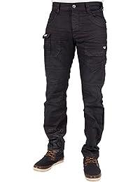 Eto Mens New Jeans EM459 Darkwash-Coated Tapered Leg Jeans Bargain Price RRP £44.99