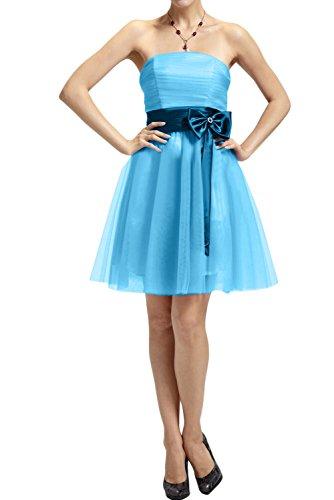 Ivydressing Festlich Neu Traegerlos Tuell 2017 Cocktailkleider Partykleider Kurz Abendkleid Blau
