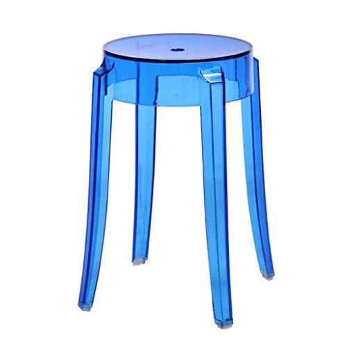 HHCS Petit siège en plastique, tabouret en plastique épais banc de gaufrette d'eau salon minimaliste moderne maison minimaliste Chaises et tabourets ( Couleur : Transparent blue , taille : 260*460mm )
