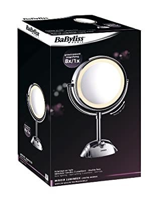 BaByliss 8438E Kosmetikspiegel 8-fach Vergrößerung von Babyliss auf Spiegel Online Shop