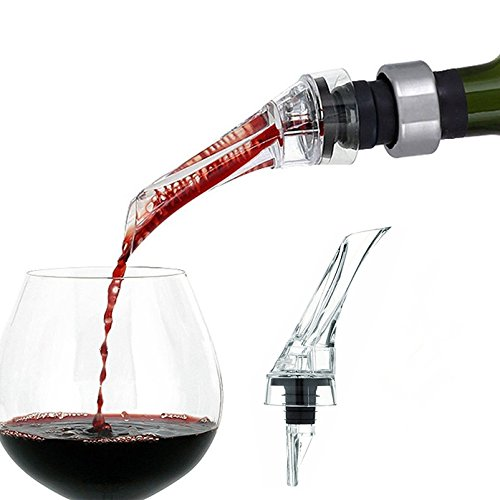 Aidle Aérateur de vin versant, arrosoir verseur décantation versant - aération versant, vin de luxe aérateur carafe à vin - adapté à toutes les bouteilles de vin (aérateurs de vin)
