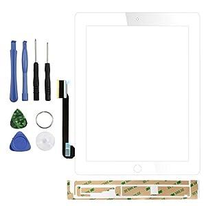 Ersatz Touchscreen Digitizer Display Front Glas für iPad 3+ Gratis Werkzeug