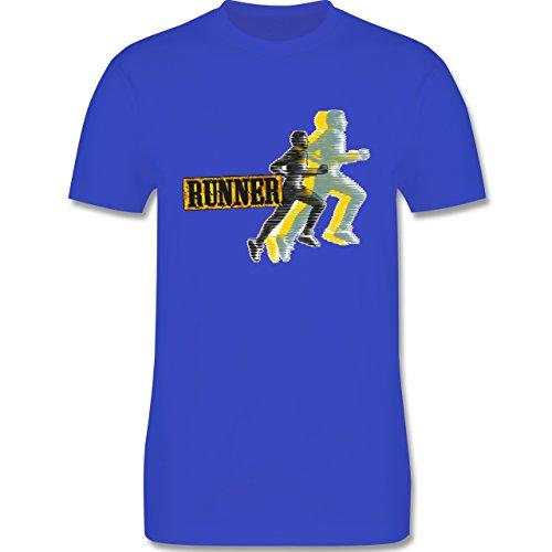 Laufsport - Runner - Herren Premium T-Shirt Royalblau