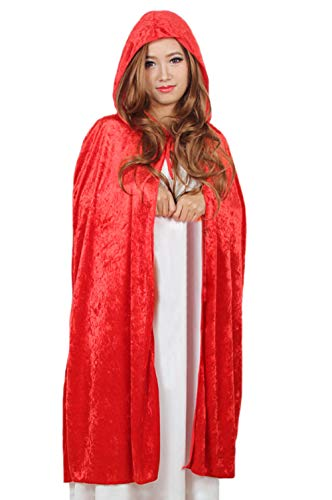DELEY Damen Red Riding Hood Samt Umhang Maskerade Cosplay Umhang Kostüm Zubehör