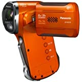 Panasonic HX-WA30EG-D wasserdichter Camcorder (6,7 cm (2,7 Zoll) LCD-Display MOS-Sensor, 3 Megapixel, Full HD, 5-fach opt. Zoom, USB 2.0, bis 10m wasserdicht) orange