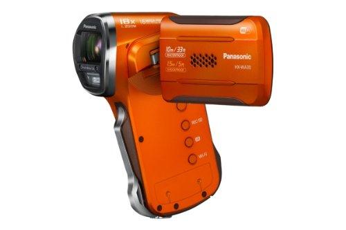 Panasonic HX-WA30EG-D wasserdichter Camcorder (6,7 cm (2,7 Zoll) LCD-Display MOS-Sensor, 3 Megapixel, Full HD, 5-fach opt. Zoom, USB 2.0, bis 10m wasserdicht) orange