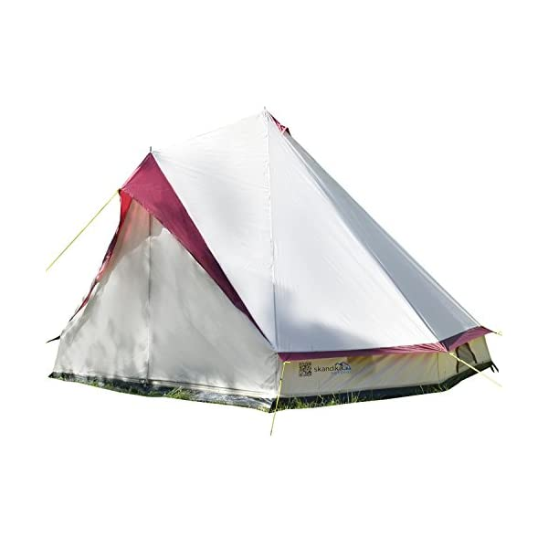Skandika Tipii II 8 Person Tent Festival Party Tent Teepee Wigwam with 250 cm Height, 3000 mm Water Column & Zip-Up Walls 1