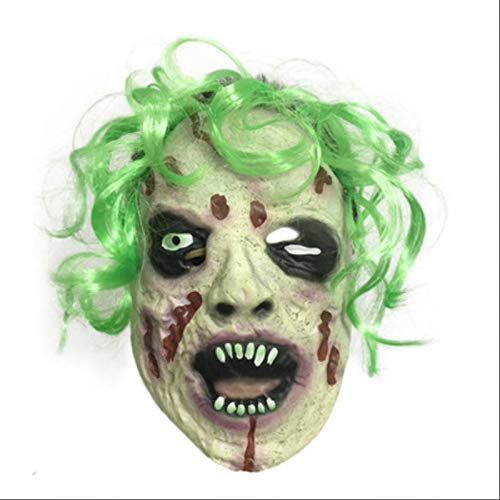 Sonwaohand Halloween-Horror Mit Haar-Maske Leichenmaske Monster Prom Dress Up Zombie Skelett-Maske größe 1