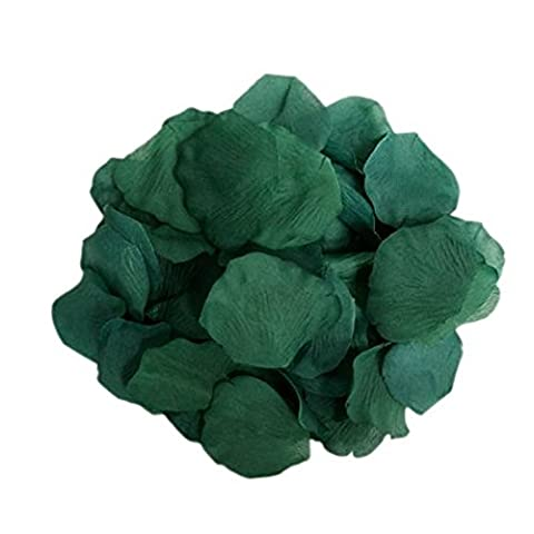 Generic pétales de rose artificielles en soie Fournitures Décoration de mariage, Lot de 1000, vert, Ve-H0001HG