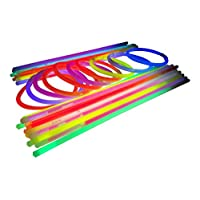 Glowtopia 8 inch Glow Stick Bracelets + Connectors - Premium Glowsticks from (100 Pack, Mixed)