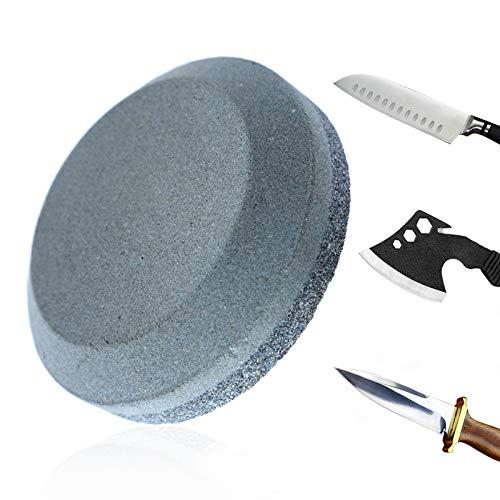RISHIL WORLD Sharpening Stone Dual Grit 120# 280# Whetstone Alumina Kitchen Round Grinding Stone Household Blade Sharpener Sharpen Stone