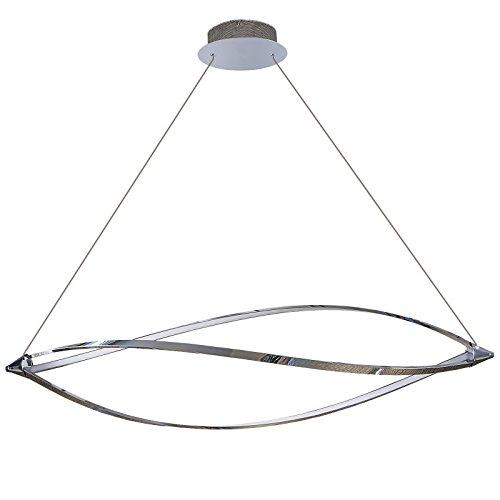 Lu-Mi Sunset Lina Pendelleuchte LED Deckenlampe Küchenlampe Hängend Esstischlampe Hängelampe Deckenleuchte LED Wohnzimmerlampe Stufenlos Höhenverstellbar Modern 230V IP20 48,8 Watt 4880 Lumen