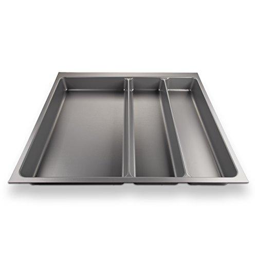 SO-TECH® ORGA-BOX II Bac à couvert (462 x 509 mm) Maxi pour Nobilia Tiroir de 60 mm Gris Argenté
