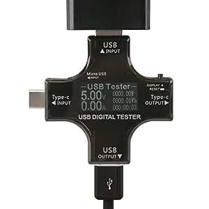 DROK® USB/tipo-C 2in1 multifunzionale tester DC 3.30-30.0V Tensione di visualizzazione digitale Potenza corrente Potenza energetica Monitor di temperatura della temperatura dell'apparecchio Portatile Voltmetro USB Amperometro Rilevatore di termometro QC2.0 / 3.0 Rapido caricamento