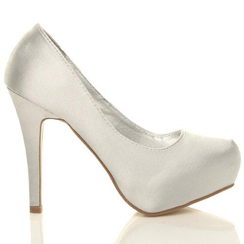 Argent escarpins chaussures strass Femmes plateforme mariage talon eleganté haut fBx7FB