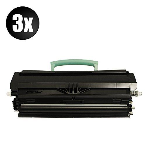3X XXL Eurotone Premium Cartridge für Lexmark E260D / E360DN / E460DN ersetzt E260A11E 6.000 Seiten Version Patronen Original Eurotone (ISO-Norm 19798) -
