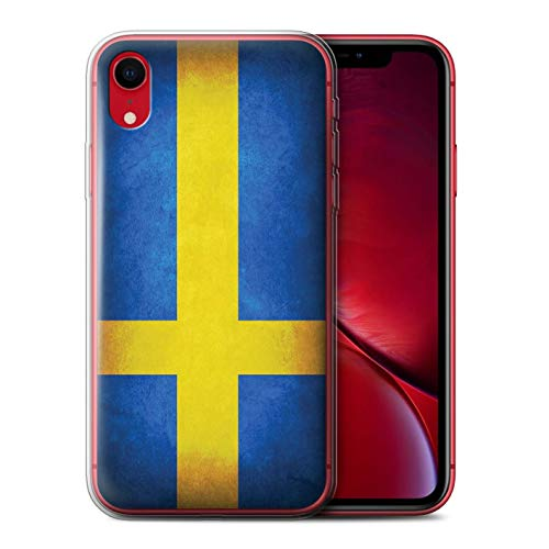 Stuff4® Gel TPU Hülle/Case für Apple iPhone XR/Schweden/Schwedische Muster/Flagge Kollektion