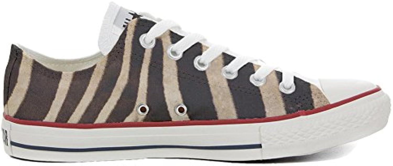 Converse All Star Personalisierte Schuhe (Custom Produkt) Slim Zebra