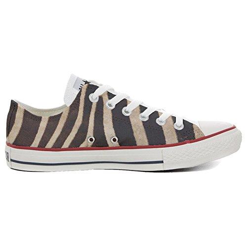 CONVERSE All Star Slim scarpe personalizzate Sneaker unisex (Scarpa artigianale) Slim Zebra - TG33