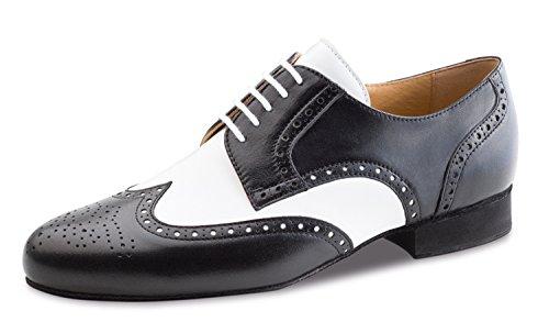 Werner noyau, Chaussures de danse homme 28023cuir [Largeur normale] Glattleder Schwarz/Weiß