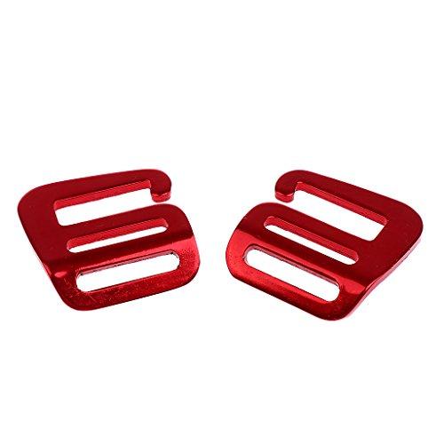 Homyl 2 x Gurtband-Schnallen, Kunststoff-Schnalle für Rucksack/Tasche, 25 mm - rot