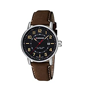 Wenger-Reloj de pulsera unisex cronógrafo cuarzo piel 01.0341.108 de WENGER