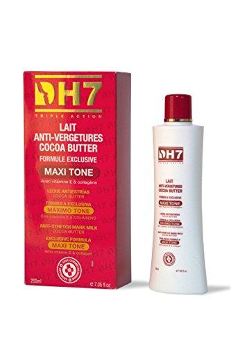 DH7Anti-Stretch marca crema loción con manteca de cacao, Vitamina E & Colágeno 200ml, fórmula exclusiva maxi-tone por Elyseestar
