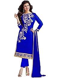 The Zeel Fashion Blue Color gorgette Anarkali Salwar Suit Unstitched dress material