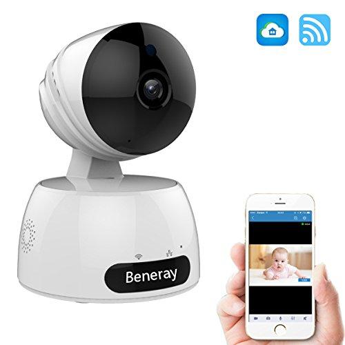 Überwachungskamera Wireless, Beneray 720P HD Wlan IP Kamera, Hunde Haus Baby Haustier Innen Monitor Sicherheitsüberwachung mit Nachtsicht, Zwei Wege Audio, Fernbedienung Bewegungserkennung Funktion