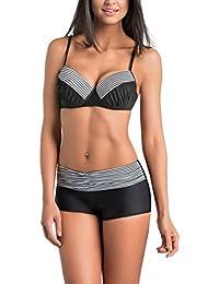 Gwinner Damen Bikini - Badeoutfit - Zweiteilig Mit Verlängerten Beinen - Widerstandsfähig Gegen Chlor Und UV - #Gwn Tamara
