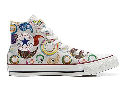 Converse All Star Chaussures Personnalisé et Imprimés (Produit Artisanal) Happy Paisley