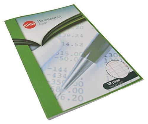 RHINO - Quaderno per contabilità formato A4, 32 pagine