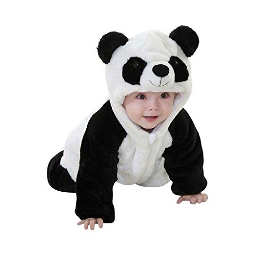 (Panda-Kostüm mit niedlichen Details, kleine Bären-Ohren, Schnute und natürlich fleckige Augen, lustige Verkleidung zu Karneval, Fasching)