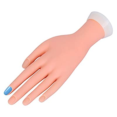 CLAVUZ Nail Hand Foot Practice Model Flexible Movable Soft Plastic Hand for Fake Nail Art Starter Training