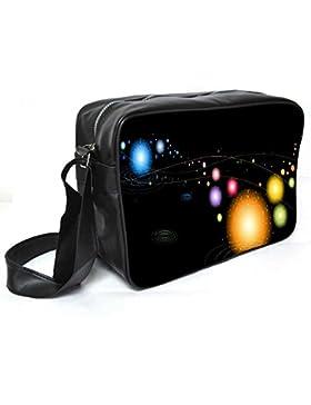 Snoogg Multicolor Sparkling Leder Unisex Messenger Bag für College Schule täglichen Gebrauch Tasche Material PU