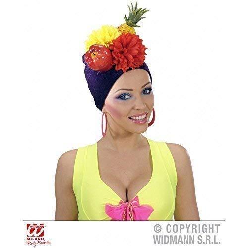 Lively Moments Brasilianische Kopfbedeckung/Mütze/Hut/Kostümzubehör Miranda mit - Carmen Miranda Kostüm