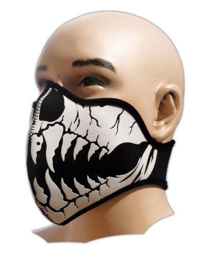 Biker Tattoo Motorrad Mundschutz Maske Neopren Feinstaubfilter Snowboard Ski Extrem Sport Paintball Totenkopf