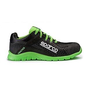 41bLif3tckL. SS300  - Sparco 0751745NRVF Zapatillas, Negro/Verde, 45
