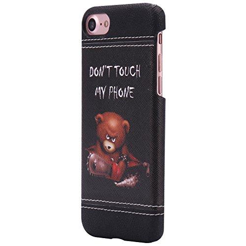 iPhone 7 Plus hülle,Ekakashop Niedlich Comic Style Bär Muster PC + TPU Weiche Silikon Praktisch Back Bumper Case Cover Defender Protective Schutzhülle Handyhülle Tasche Etui Schale für Apple iPhone 7  Bär