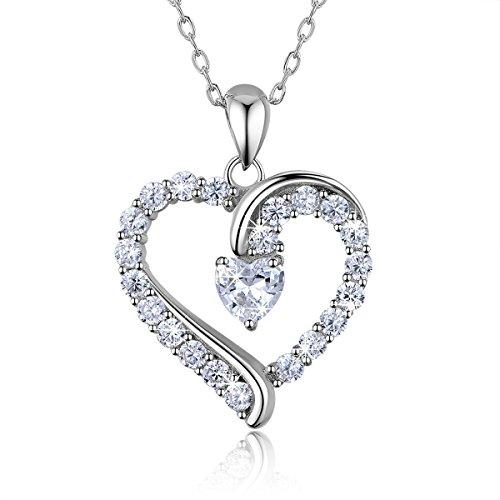 925 Sterling Silber Herz Halskette - Billie Bijoux