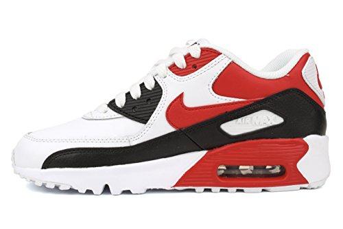 Nike - Air Max 90 2007 (Ps), Sneaker Unisex – Bambini White/University Red-balck-wolf Grey