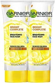 Garnier Bright Complete Brightening Facewash 100g (Pack of 2)