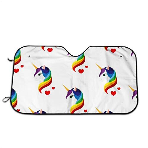 FATHYU - Parasol Aluminio diseño Unicornio Colorido