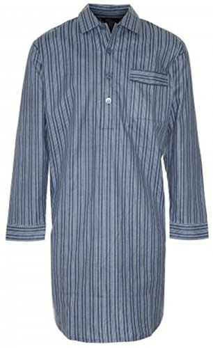 new-mens-champion-striped-brushed-cotton-knee-length-long-sleeved-button-front-nightshirt-nightwear-